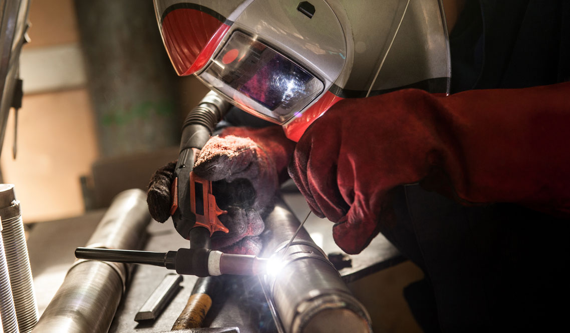 Tig welding of stainless pipe